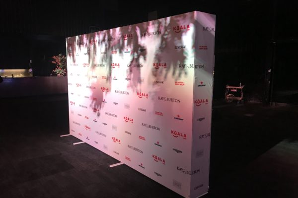 XPro SEG media backdrop wall
