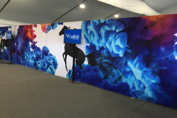 Custom Imtex Fabric wall display
